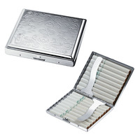 Visol Florence Etched Double Sided Cigarette Case