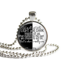Harry Potter Necklace Sirius Black Light and Dark Quote