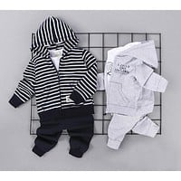 Baby clothing with hood for boys clothes for baby with zipper of newborns Set for babies