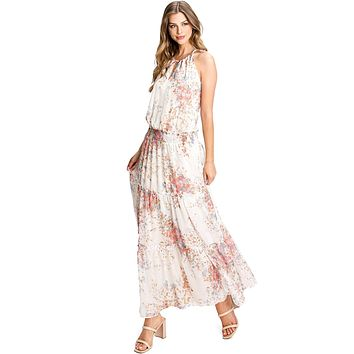 Floral Tranquility Maxi Dress