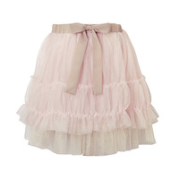 Luxe Netting Tutu Skirt - Oyster Pink For Girl - Their Nibs London