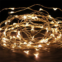 Warm White 10M 100 LED Copper Wire LED String Fairy Lights Lamp for Decoration