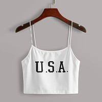 Letter Print Cami Top