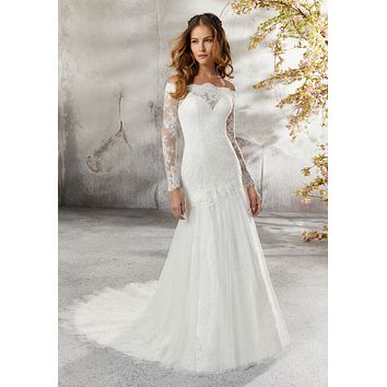 Blu by Morilee 5686 Lillian Romantic Tulle Mermaid Wedding Dress