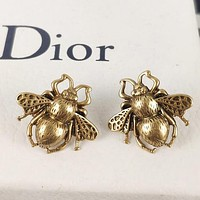 Dior New fashion bee earring women accessory Golden