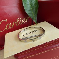 Cartier Love Bangle Bracelet 18k White Gold size 17