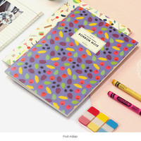 Wanna This Bon Bon pattern lined notebook medium