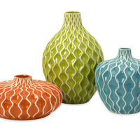 Agatha Ceramic Vases - Set of 3