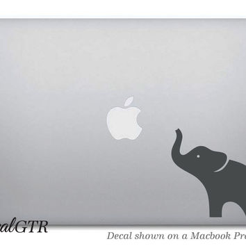 Elephant Macbook Decal Sticker - Laptop Notebook Macbook Air Pro - Car Decal - Removable Vinyl Sticker - G001