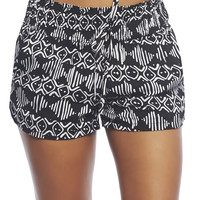 Black & White Tribal Short | Wet Seal