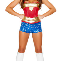 Red and Blue Supergirl Costume