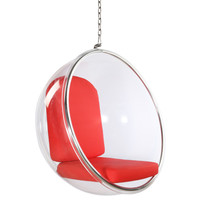 Bubble Hanging Chair, Red