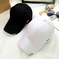Personality ring baseball cap for girl