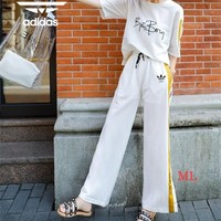 """""""Adidas"""" Women Simple Casual Multicolor Middle Sleeve Trousers Set Two-Piece Sportswear"""