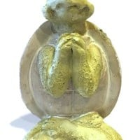 Yoga Turtle Miniature Figurine Seated Namaste Pose 2.25H