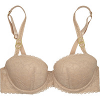 Stella McCartney Yasmin Calling lace and point d'esprit balconette bra – 50% at THE OUTNET.COM