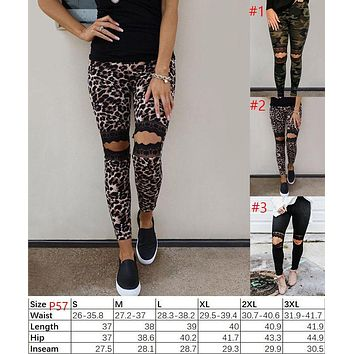 Lace Distressed Leggings (In Stock)