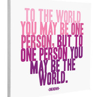 To One Person Canvas