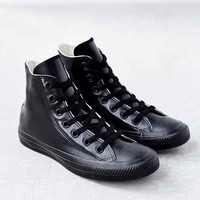 Converse Chuck Taylor All Star Black Rubber High-Top Women's Sneaker- Black