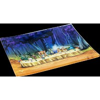 Alice Tea Party Glass Tray - Shatter Resistant