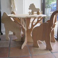 TABLE AND FOUR ANIMAL CHAIRS- sale pricing furniture set