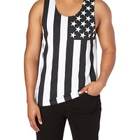 Black & White American Flag Tank