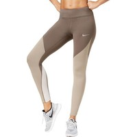 Nike Womens Tight Fit Colorblocked Athletic Leggings