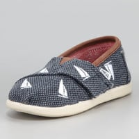 TOMS Sailboat Embroidered Shoe, Tiny