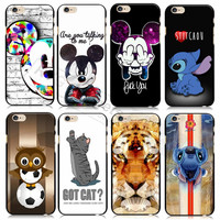 2015 New Cartoon Animals For iphone 6 Cover Tiger Mickey Stitch  Hard Back Case for iPhone6 4.7''