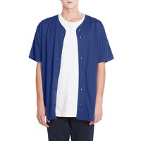 PREMIUM Mens Full Button Down Mesh Short Sleeve Baseball Jersey (CLEARANCE)