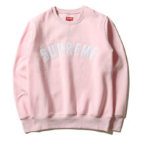 """SUPREME"" Fashion Casual Print Long Sleeve Pullover Sweater"