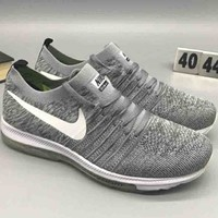 NIKE FLYKNIT RACER comfortable shock absorption comfortable trend sneakers F-CSXY light grey
