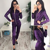 Women'S Leisure Long-Sleeved Jumpsuits