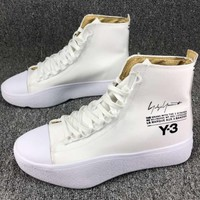 Adidas Y-3 Y3 high tops casual fashion sneakers F-CSXY white