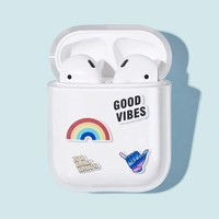 Rainbow & Letter Pattern Air-Pods Box Protector