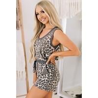 Circle Of Life Animal Print Two Piece Set (Leopard Taupe)