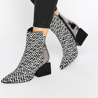 Jeffrey Campbell Print Point Heeled Ankle Boots