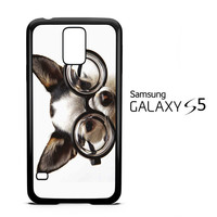 funny dog with glasses animal wallpaper qq F0174 Samsung Galaxy S5 Case