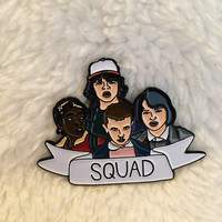 "New! ""Stranger Things Squad"" Enamel Pin, Pins, Flair, Pin, Stranger Things"