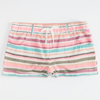 Roxy Sea Sounds Girls Shorts Pink Combo  In Sizes