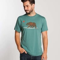 Surfing Bear Graphic Tee - Moss Green : Marine Layer