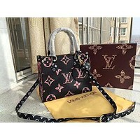 LV new shopping bag with hanging L-V jungle series leopard shopping bag