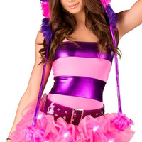 Cheshire Cat Striped Tube Top