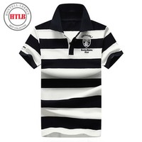 HTLB Brand New Fashion Men Polo Shirts 2018 Summer Luxury Breathable Ralphmen Camisa Masculina Soft Cotton Striped Polo Men