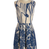 Mid-length Sleeveless A-line How Does Your Garden Glow? Dress