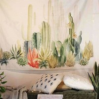 Cactus Wall Hanging Tapestry , 59 x 59 in