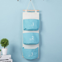 Special offer Wall Mounted 3 pocket Storage Bags bathroom kitchen supplies Fluid Systems Multilayer Pouch