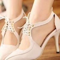 Euro-American style Hollow out design Point toe High Sandal from Amilynbiz