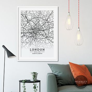 London City Map Travel Poster
