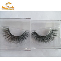 Free shipping in stock lilly mykonos 100% real handmade siberian mink fur strip lashes  mink eyelashes A8